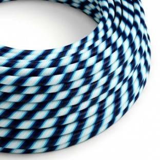 Round Electric Vertigo HD Cable covered by Mr Blue fabric ERM60