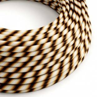 Round Electric Vertigo HD Cable covered by Mr Brown fabric ERM61