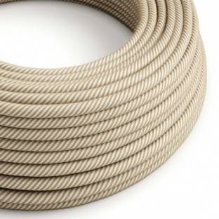 Round Electric Vertigo Cable covered by Hawser Jute and Cotton ERN07
