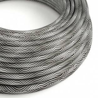 Round Electric Vertigo HD Cable covered by Optical Black and Silver fabric ERM64
