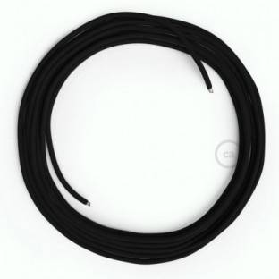 LAN Ethernet Cable Cat 5e without RJ45 plugs - Rayon Fabric RM04 Black
