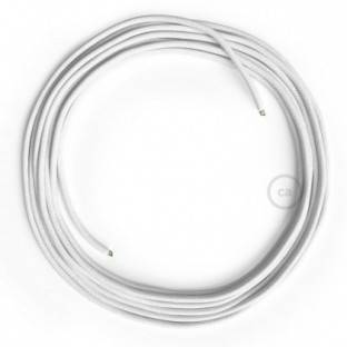 LAN Ethernet Cable Cat 5e without RJ45 plugs - Cotton Fabric RC01 White