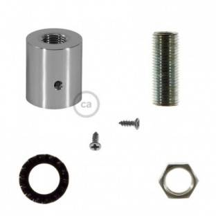 Chrome metal cable terminal for 16 mm Creative-Tube, accessories included