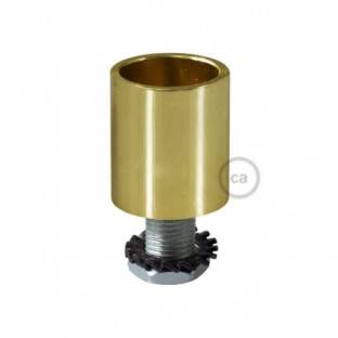 Brass metal cable terminal for 16 mm Creative-Tube, accessories included