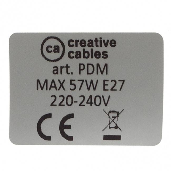 Kaštono spalvos metalinis lempos lizdas, tinkamas E27 lemputei, dvigubai sriegiuotas.