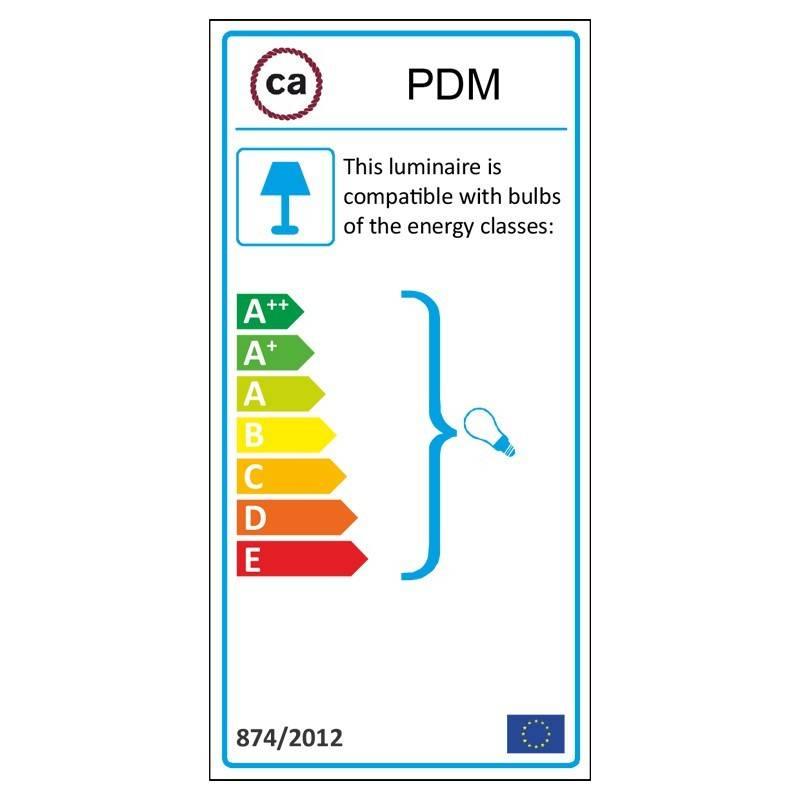 Kaštono spalvos metalinis lempos lizdas, tinkamas E14 lemputei, dvigubai sriegiuotas.