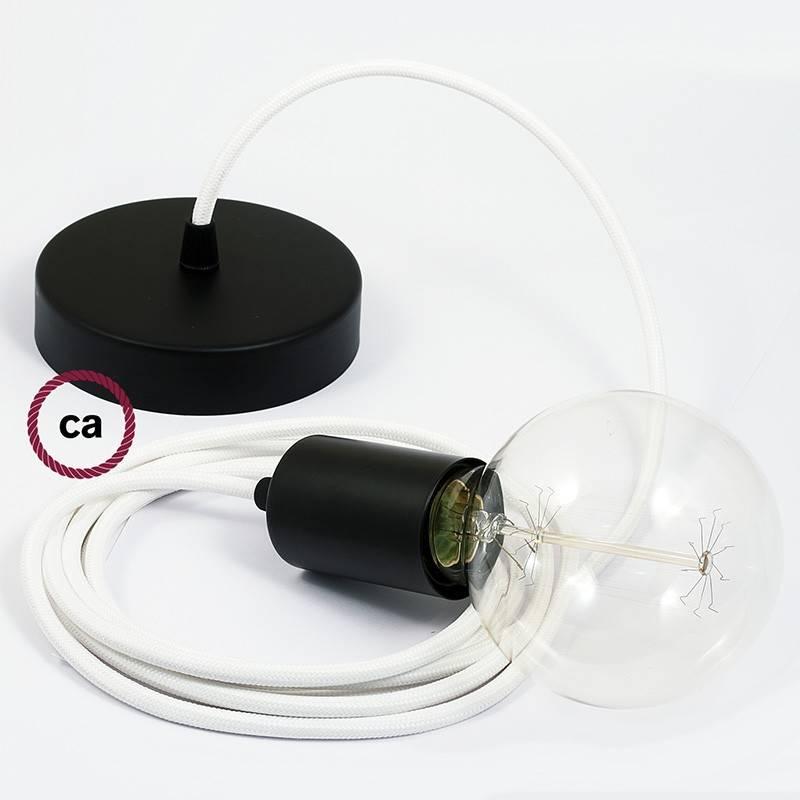 E27 Cilindrinis lempos lizdo komplektas su žalvario gaubtu + cilindrinis laido fiksatorius