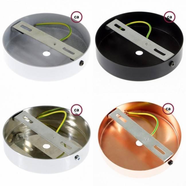 Metalinis, sidabro spalvos lempos lizdas E27, dvigubai sriegiuotas + cilindrinis laido fiksatorius