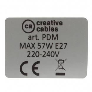 E27 sriegiuotas lempos lizdas, 2 žiedai, balta termoplastinė medžiaga