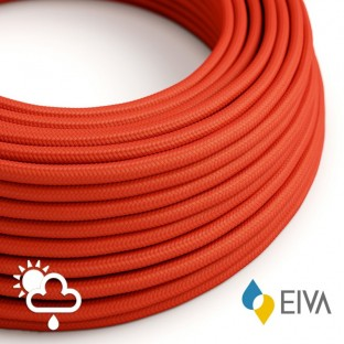 Outdoor round electric cable covered in Red Rayon SM09 -suitable for IP65 EIVA system