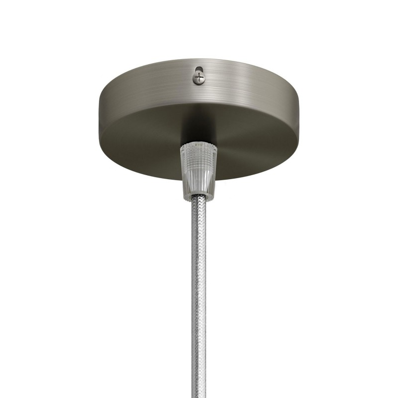 Mini Cylindrical Metal 1 central hole ceiling rose kit
