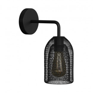 Fermaluce Metal wall light with Ghostbell lampshade and bent extension