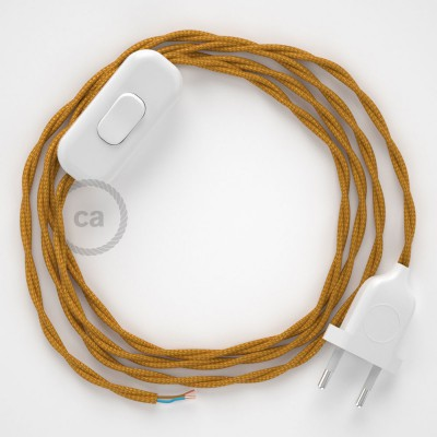 Lamp wiring, TM05 Gold Rayon 1,80 m. Choose the colour of the switch and plug.