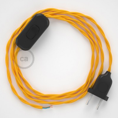 Lamp wiring, TM10 Yellow Rayon 1,80 m. Choose the colour of the switch and plug.