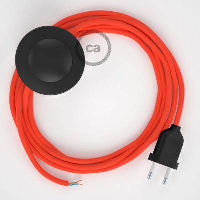 Wiring Pedestal, RF15 Neon Orange Rayon 3 m. Choose the colour of the switch and plug.