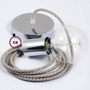 LED ir tradicinių lempučių šviesos intensyvumo reguliatorius (dimeris) su juodu jungtuku ant laido