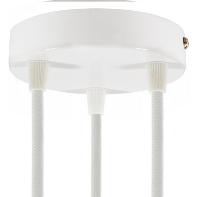 SMART cylindrical metal 3-hole ceiling rose kit - compatible with voice assistants