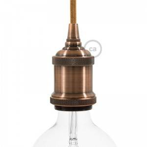 Vintage aluminum E27 lamp holder kit