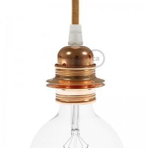 Double ferrule metal E27 lamp holder kit for lampshade