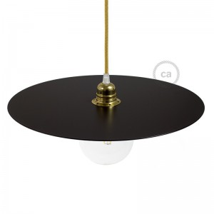 Ellepì dish oversize painted iron plate for suspension, 40cm diameter - Made in Italy