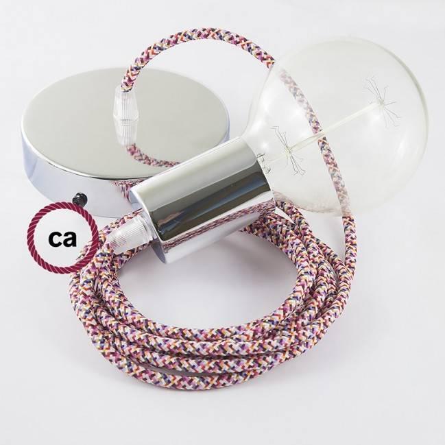 Kreminės spalvos keraminis šviestuvas-Voras, su 6-7 lempučių lizdais bei RS82 rudu laidu. Pagaminta Italijoje.