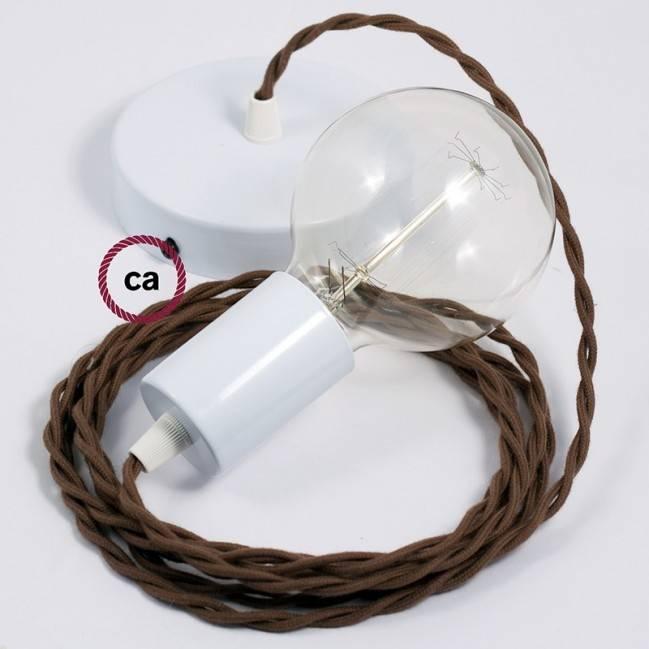 Dekoratyvinės lemputės G125 stiklo modulis. Baltas su vertikaliomis linijomis