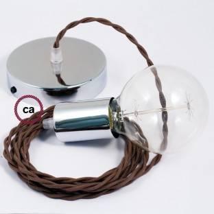 Dekoratyvinės lemputės G125 stiklo modulis. Pusė aukso spalvos sferos