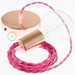 """""""Exclusive"""" E27 metalinis lempos lizdas, rūdžių spalvos, pearlo apdailos ir su dvigubu antgaliu. 100% pagaminta Italijoje"""