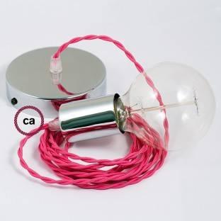 """""""Exclusive"""" E27 metalinis lempos lizdas, kivi spalvos, pearlo apdailos ir su dvigubu antgaliu. 100% pagaminta Italijoje"""
