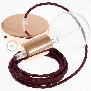 """""""Exclusive"""" E27 metalinis lempos lizdas, citrinų spalvos, pearlo apdailos ir su dvigubu antgaliu. 100% pagaminta Italijoje"""