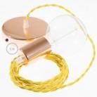 Chromuoto metalo 120 mm šviestuvo korpuso komplektas su viena centrine anga ir 2 angomis šonuose, priedai į komplektą įeina