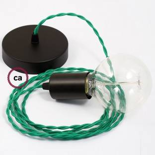 Žalvarinis 120 mm šviestuvo korpuso komplektas su viena centrine anga ir 2 angomis šonuose, priedai į komplektą įeina
