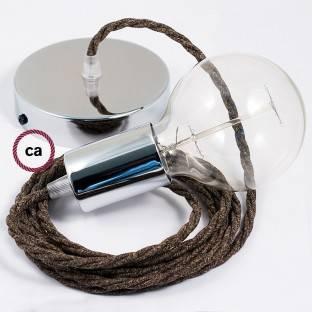 Balto metalo 120 mm šviestuvo korpuso komplektas su 4 angomis šonuose, priedai į komplektą įeina