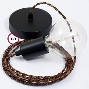 Medinis pakabinamas šviestuvas su jūrinės virvės laidu XL 16mm, neapdirbtos medvilnės. Pagaminta Italijoje