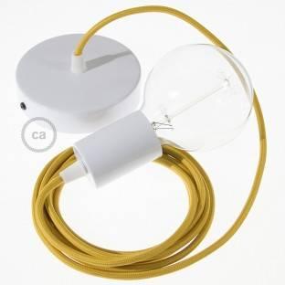 Medinis pakabinamas šviestuvas su jūrinės virvės laidu 3XL 30mm, neapdirbto džiuto. Pagaminta Italijoje