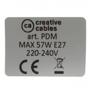 Creative-Apyrankė iš fluorescencinės žalios viskozės RF06. Medinis reguliuojamas tvirtinimas. Pagaminta Italijoje.