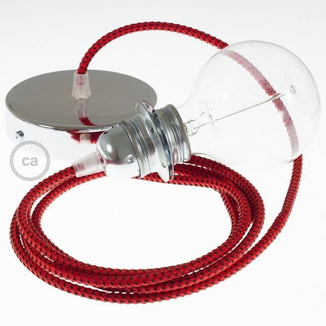 """Aukso spalvos kabančio šviestuvo """"Mason Jar"""" komplektas su cilindriniu laido gnybtu ir E14 žalvariniu lempos lizdu"""