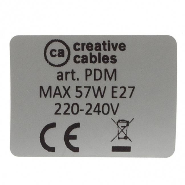 """""""Creative-Tube"""" lankstus kanalas, neutralaus natūralaus lino RN01 audinio danga, diametras 20 mm"""
