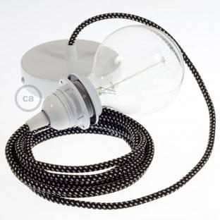"""""""Creative-Tube"""" lankstus kanalas, pilko natūralaus lino RN02 audinio danga, diametras 20 mm"""