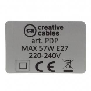 """Chromuoto metalo apdailos """"Fermaluce"""" su E27 sriegiuotu lempos lizdu - metalinis sienos ar lubų šviesos šaltinis"""