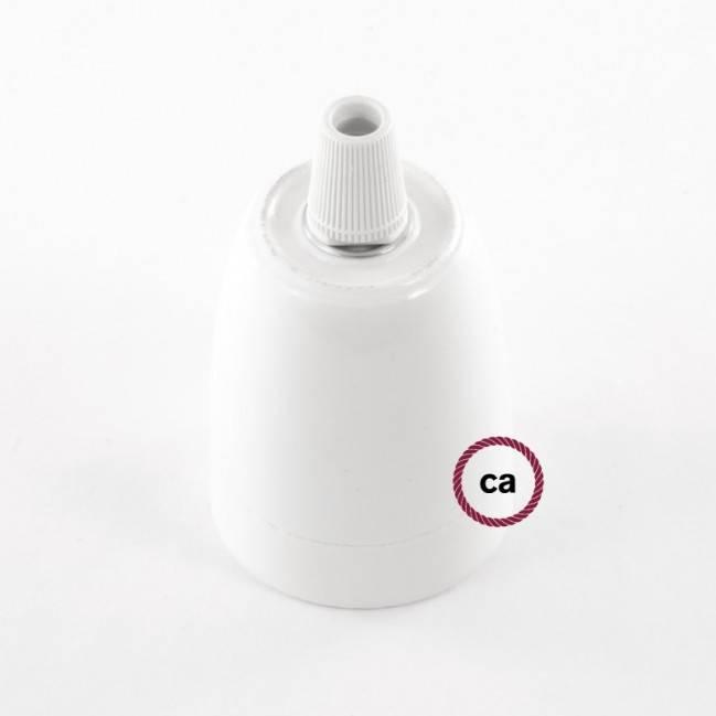 """Juodojo perlo apdailos metalinis """"Fermaluce"""" su E27 sriegiuotu lempos lizdu - metalinis sienos ar lubų šviesos šaltinis"""