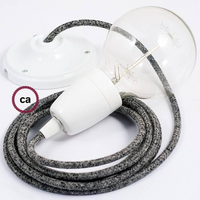 """""""Spider"""", 7 lempučių kabantis šviestuvas, balto metalo, RM01 baltas laidas, pagaminta Italijoje."""